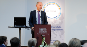 Rainer Baake, State Secretary at the Federal Ministry for Economic Affairs and Energy, at the powerupgrade 2030 event in Brussels.