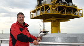 "Federal Minister for Economic Affairs and Energy Sigmar Gabriel visits the offshore windpark ""Baltic 1"""