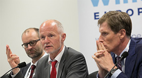 "State Secratary Rainer Baake at the ""Offshore Wind Energy 2017"" conference."