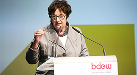 Federal Minister for Economic Affairs,  Brigitte Zypries, speaking at the BDEW-Kongress 2017.