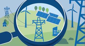 Illustration: Renewable energy sources.