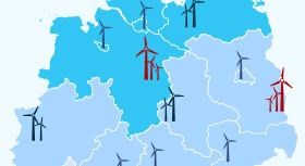 Infographic shows: 29,844 – that's the number of on and offshore wind-powered installations in Germany as of 2017. It's 1,622 more than in the preceding year.