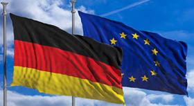 German flag and European flag