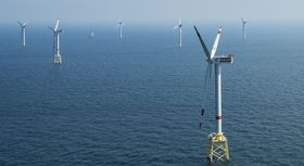 Offshore-Windpark in der deutschen Nordsee