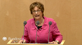 Brigitte Zypries am Rednerpult