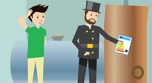 BMWi Newsletter Energiewende - Animationsfilm erklärt Heizungslabel