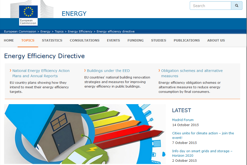 Screenshot EU-Energieeffizienz-Richtlinie