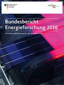 Cover der Publikation Bundesbericht Energieforschung 2016