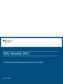 """Cover der Publikation """"EEG-Novelle 2017 - Kernpunkte des Bundestagsbeschlusses vom 8.7.2016"""""""