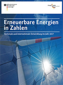 Cover Erneuerbare Energien in Zahlen 2017