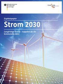 Cover der Publikation Strom 2030 Ergebnisbericht