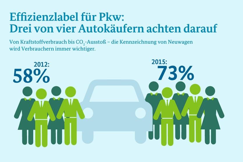 Infografik: Effizienzlabel für Pkw; Quelle: dena/BMWi